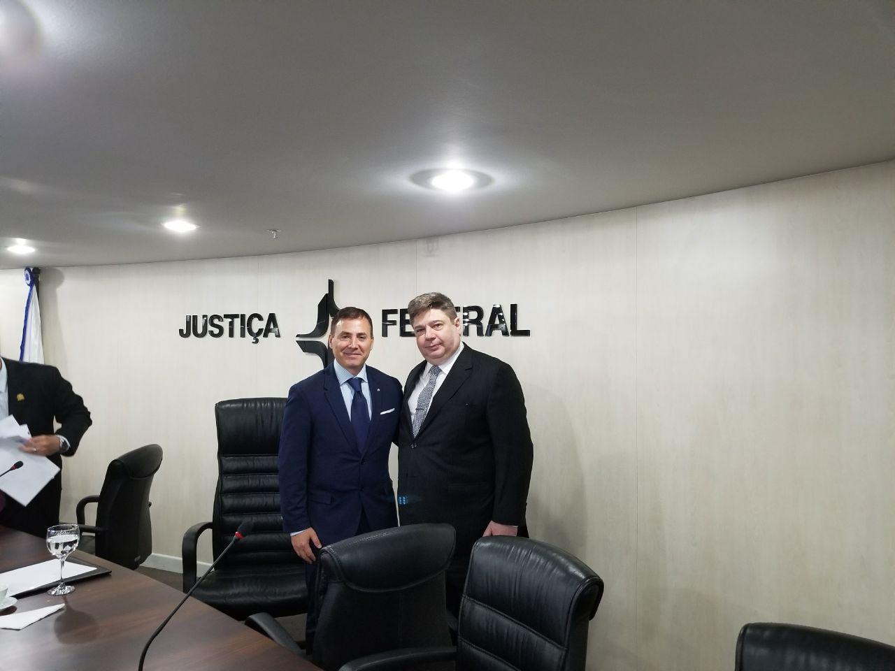 Firma del convenio marco entre la AAJC y el Poder Judicial de Brasil